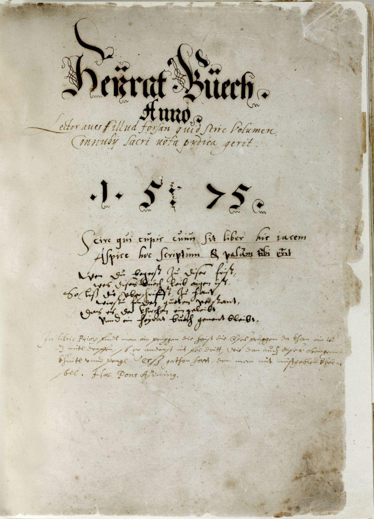Das älteste Salzburger Matrikenbuch