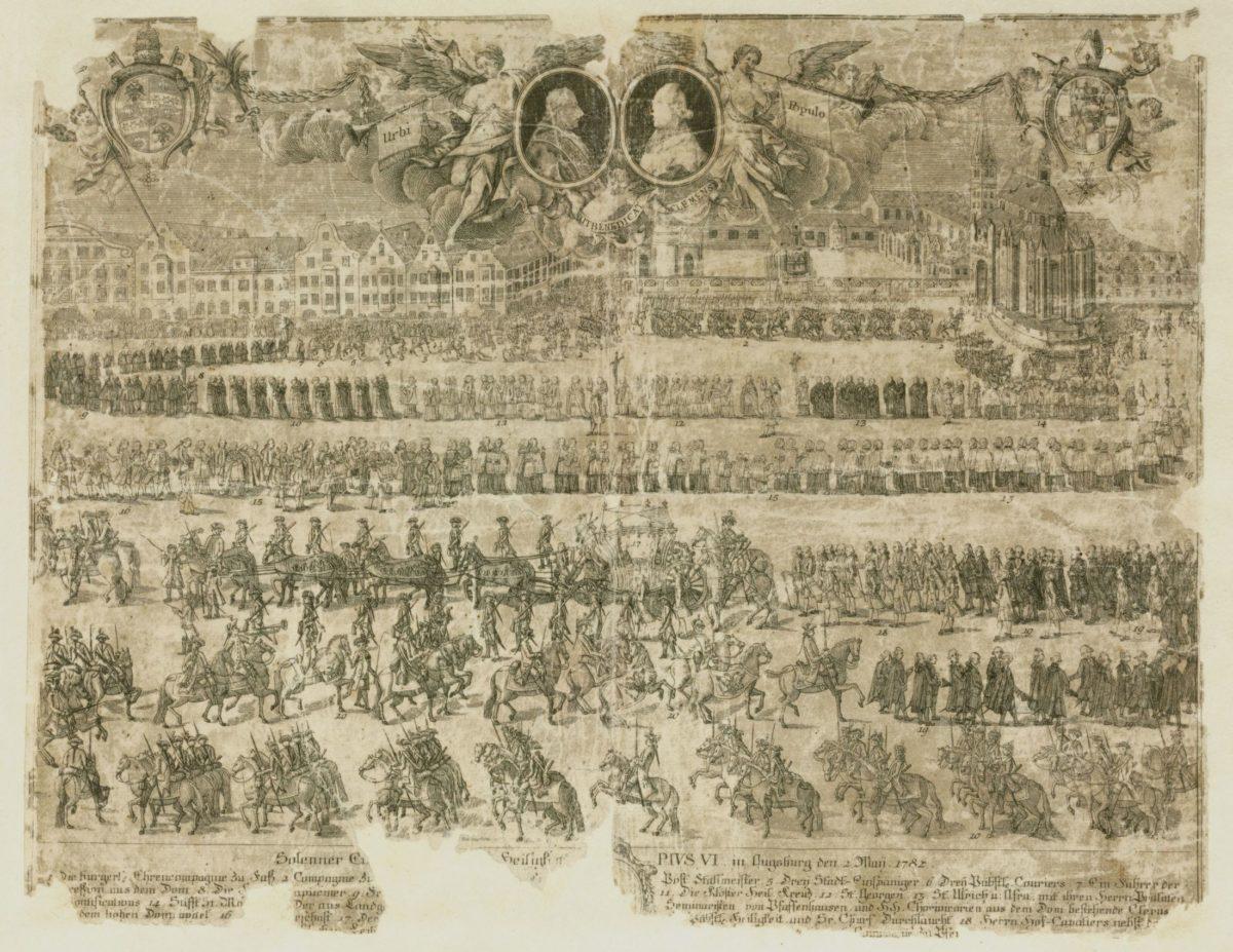 Einzug des Papst Pius VI.