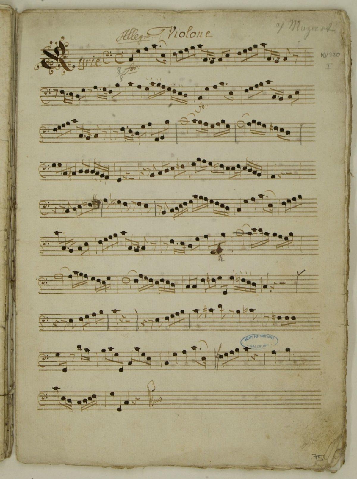 Missa brevis et solemnis in C-Dur (Spatzenmesse, KV 220/196b)