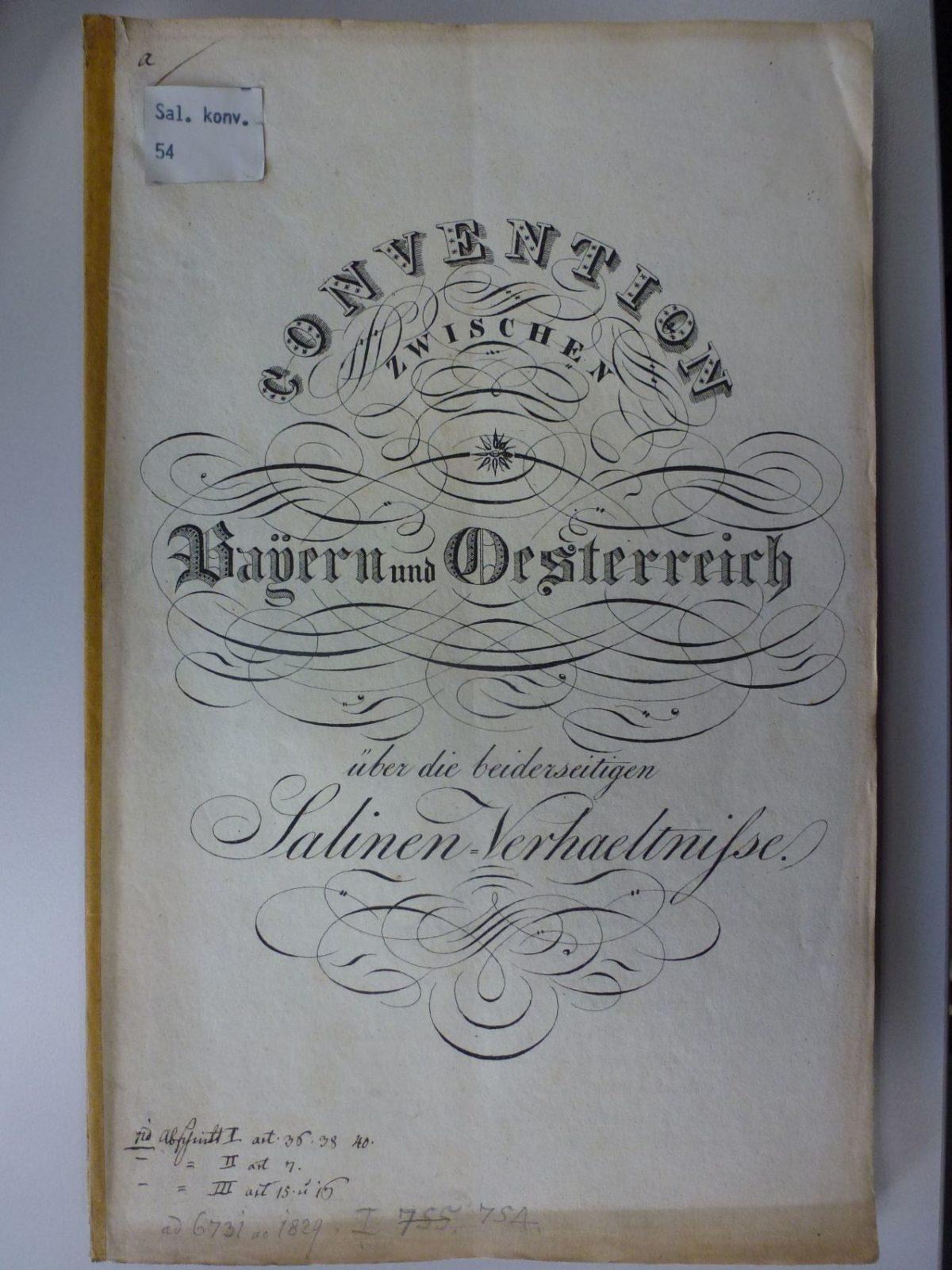 Die Salinenkonvention von 1829