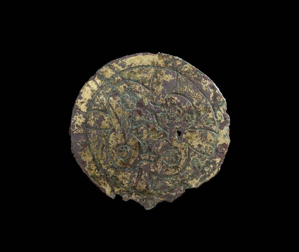 Eine frühmittelalterliche, vergoldete Scheibenfibel