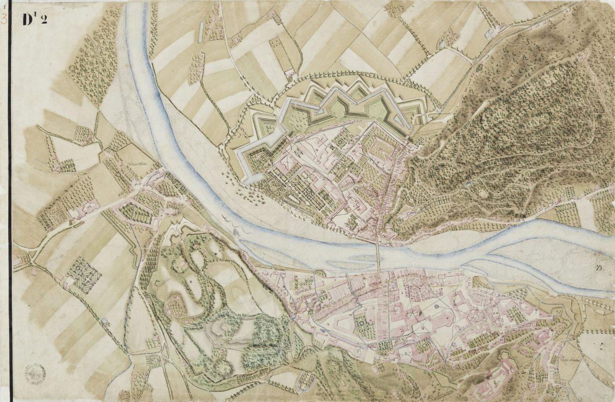 Mappe über die Brunnen und Canal-Leitungen zu und in der Stadt Salzburg