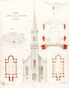 Plan Evangelische Kirche © Stadtarchiv Salzburg