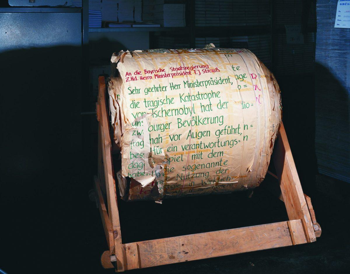 Brief an die bayerische Staatsregierung gegen den Bau der atomaren Wiederaufbereitungsanlage in Wackersdorf