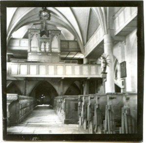 Prospekt der alten Orgel der Pfarrkirche Abtenau (B591) © Archiv St. Peter
