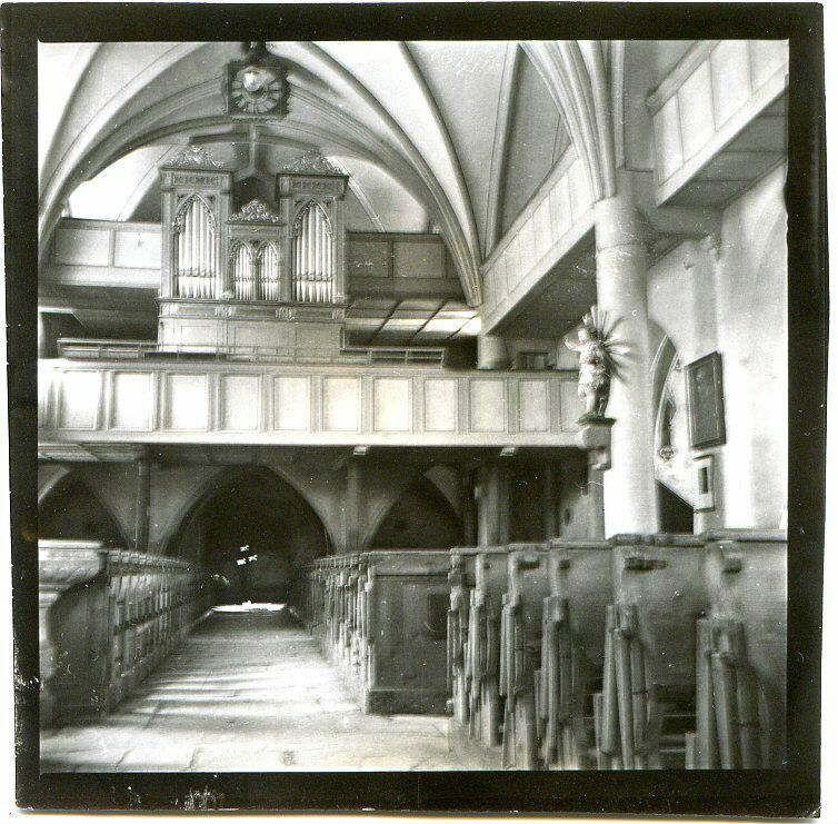 Prospekt der alten Orgel in der Pfarrkirche Abtenau