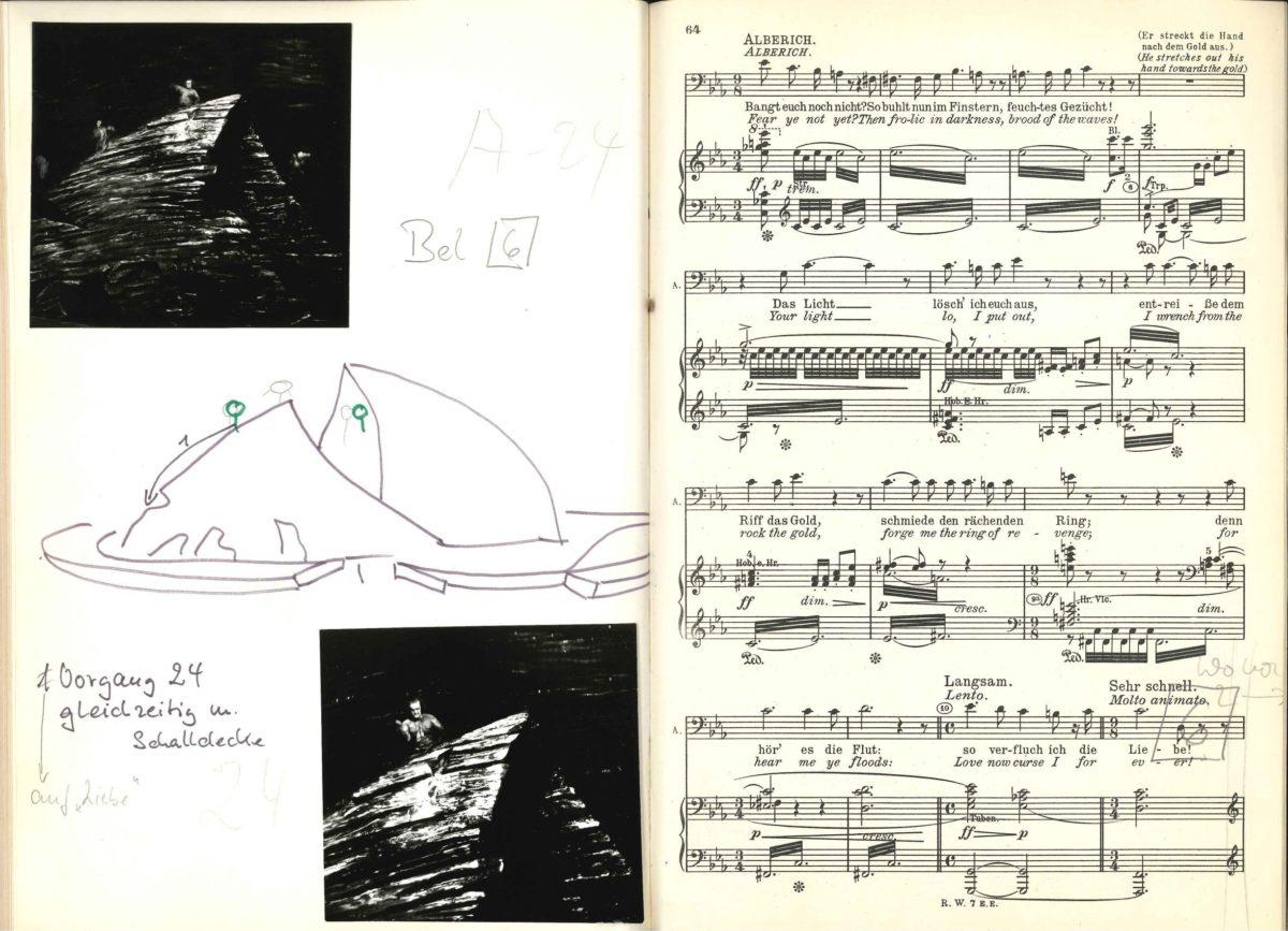 Richard Wagner: Das Rheingold (Klavierauszug mit Abbildungen und handschriftlichen Anmerkungen)