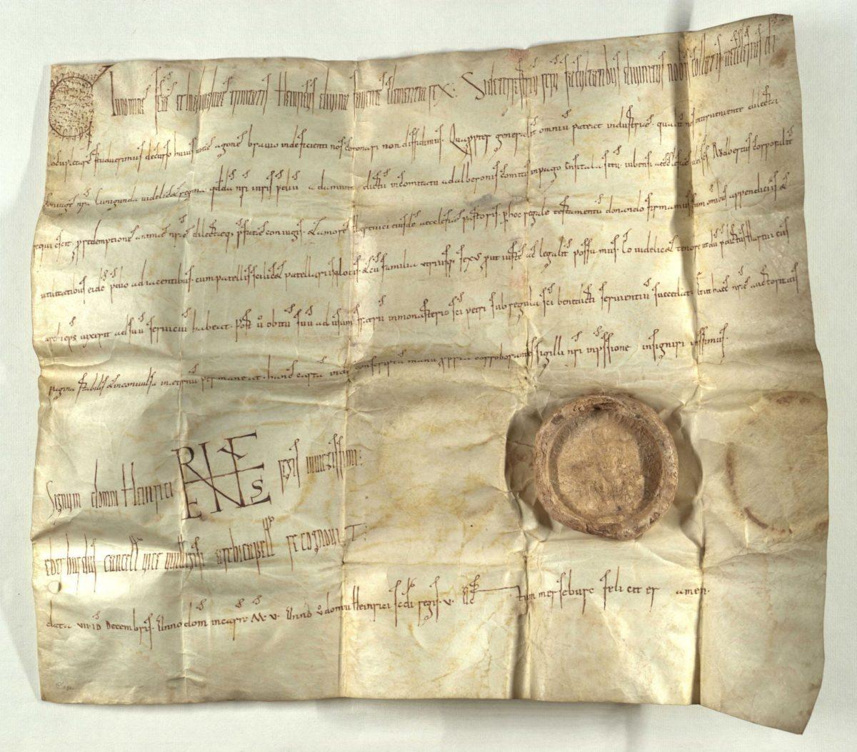 Schenkungsurkunde König Heinrichs II. über das Gut Admont im Ennstal