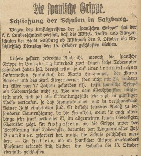 Der Ausbruch der Spanischen Grippe im Jahr 1918