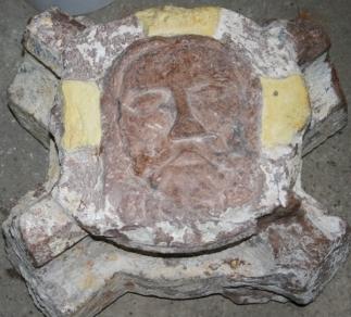 Ein Christuskopf als Schlussstein