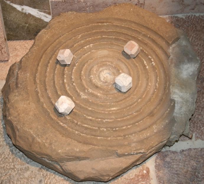Schleifstein einer Kugelmühle