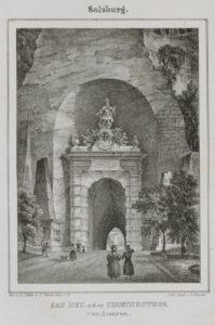 Neutor von der Südseite (Lithographie) © Archiv der Erzdiözese Salzburg