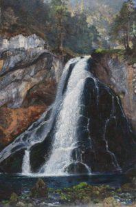 Der Gollinger Wasserfall von Eduard Gehbe